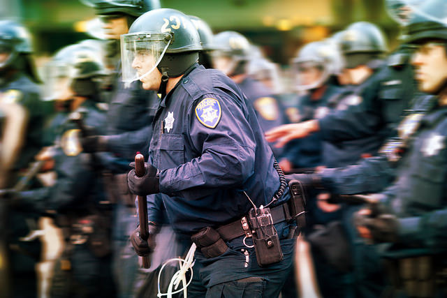 American Police Wiping Their Asses With the U.S. Constitution